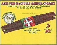 ST. BERNARD CIGAR LABEL - VINTAGE ADVERTISING
