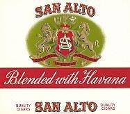 San Alto Cigar Box Label
