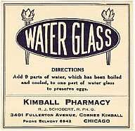 Kimball Water Glass Labels