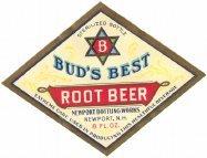 Bud's Best Root Beer Soda Labels 1920s