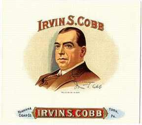 Irvin S. Cobb Tobacco Cigar Label