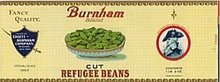 Burnham Green Beans Vegetable Can Label