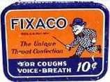 Fixaco Medicine Tin - Monopoly Man 1930s