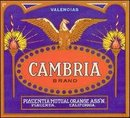 Cambria Orange Citrus Crate Label