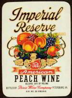 Imperial Peach Wine Label