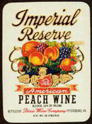 Imperial Peach Wine Label