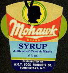 Mohawk Syrup Label