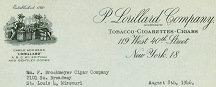 Lorillard Tobacco Letterhead