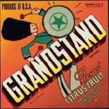 Grandstand Citrus Crate label