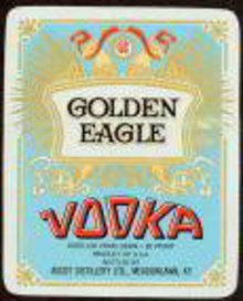 Golden Eagle Vodka Label