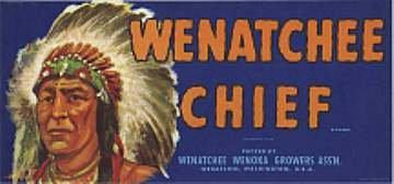 Wenatchee Chief Lug Labels