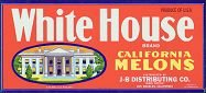 White House Melons Label
