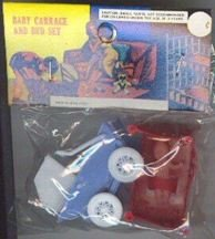 Toy Baby Carriage in Original Pack 1960s