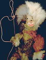 Fuzzy Monkey Puppet Toy