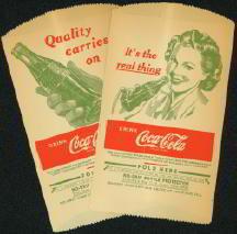 Coca-Cola Soda Dry Servers 1940s