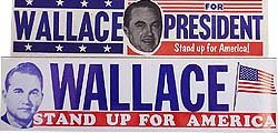 GEORGE WALLCE DECALS / 2 VINTAGE POLITICAL