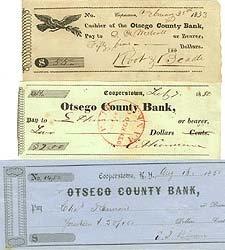Cooperstown Antique Checks