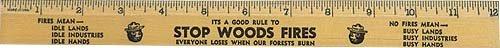 Smokey the Bear Wood Ruler