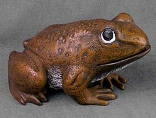 Cast Iron Frog Statue