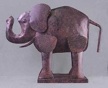 Cast Iron Elephant Statue