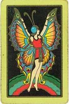 Art Deco Butterfly Playing Card