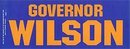 GOVERNOR WILSON STICKER / VINTAGE POLITICAL