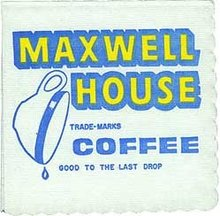Maxwell House Coffee Napkins