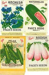 Vegetable Seed Packets 1920s Chromolithograph