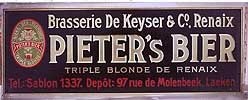 Pieter's Beer Sign - Metal German Brew Tin