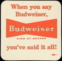 Budweiser Beer Coaster