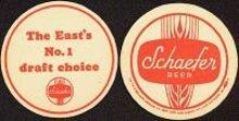 Schaefer Beer coaster