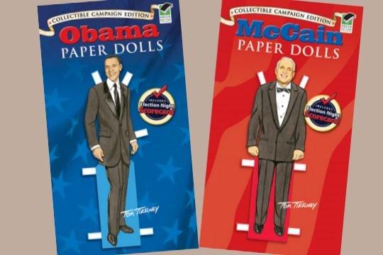John McCain Paper Doll Toy Set