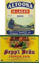 Altoona Seppl Brau Beer Labels - Vintage Bottle Advertising