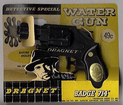 Dragnet Water Gun - Vintage Detective Toy - Joe