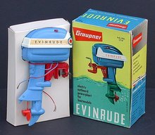 Graupner Evinrude Outboard Boat Motor Toy 1950s