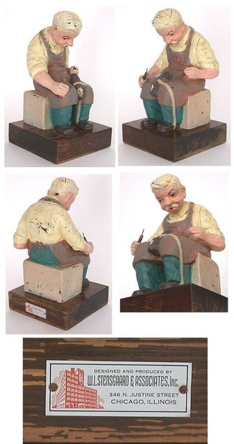 Stensgaard Shoe Repairman Statue Figurine 1930
