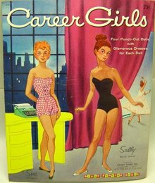 Career Girls Punch Out Paperdolls Toy Book