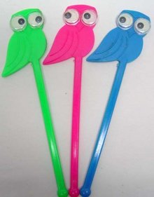 72 Google Eye Drink Swizzle Stick Stirrers Owl