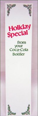 Coca Cola Soda Holiday Store Inserts