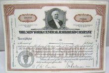 Railroad Stock Certificates - 10 Vintage 1960s