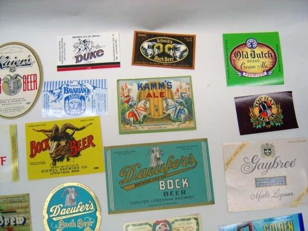 Old Beer Labels - 43 Vintage Lot Brew Advertising