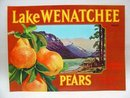 Lake Wenatchee Washington Pear Crate Labels Lot