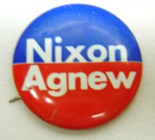 Nixon Agnew Pins - Republican Party President