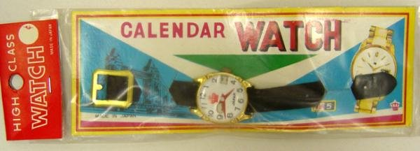 Tin Toy Watches - 4 Dime Store 1950s Watch Display PacksS