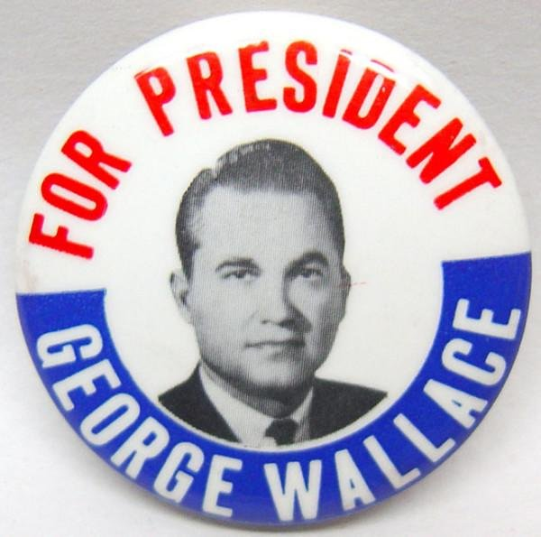George Wallace for President Pinback pins Lot