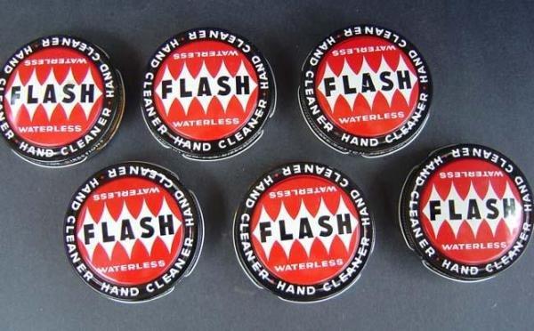 Flash Hand Cleaner Tins - Vintage Lot