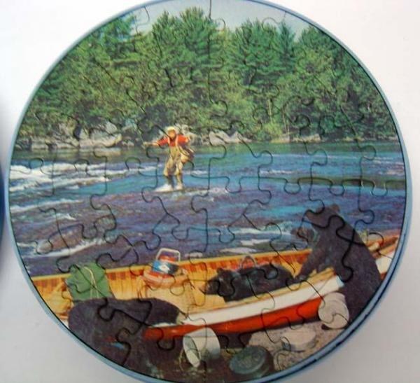 Round Jigsaw Puzzles Black Bear Toys