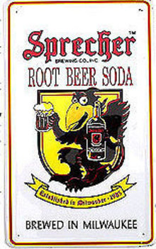 Sprecher Black Crow Soda Root Beer Soda Sign