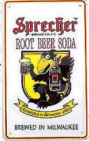 Sprecher Black Crow Soda Root Beer Soda Sign