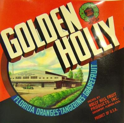 Golden Holly Crate Labels 1940s